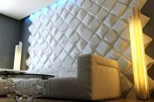 3д панели для стен в интерьере фото