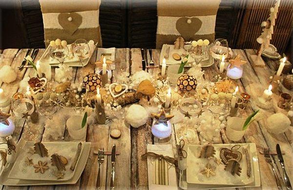 декор стола к новому году