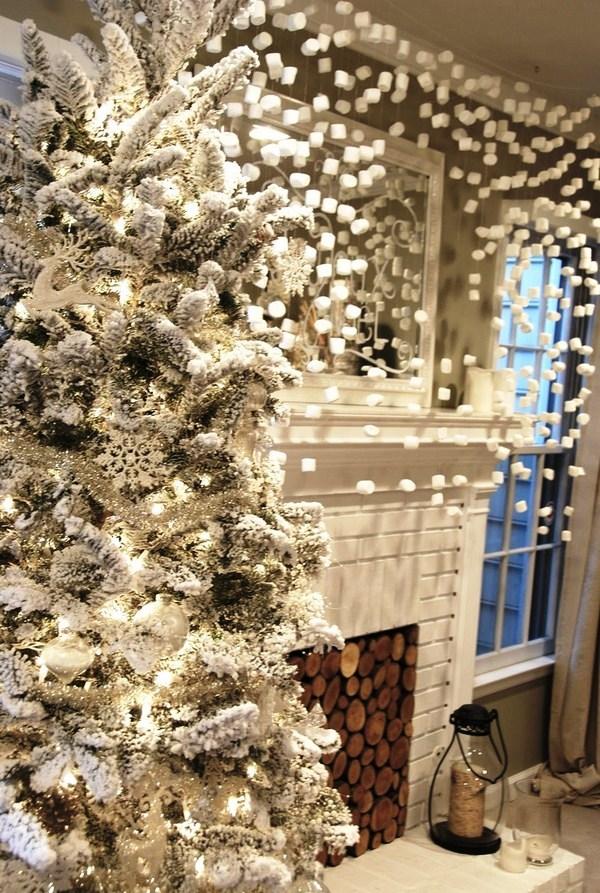 новогодний декор из пенопласта и ваты
