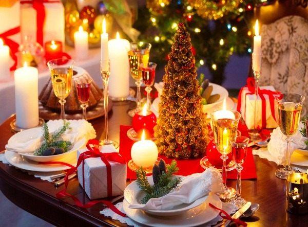 украшение новогоднего стола фото