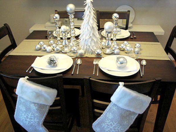 вариант декора новогоднего стола