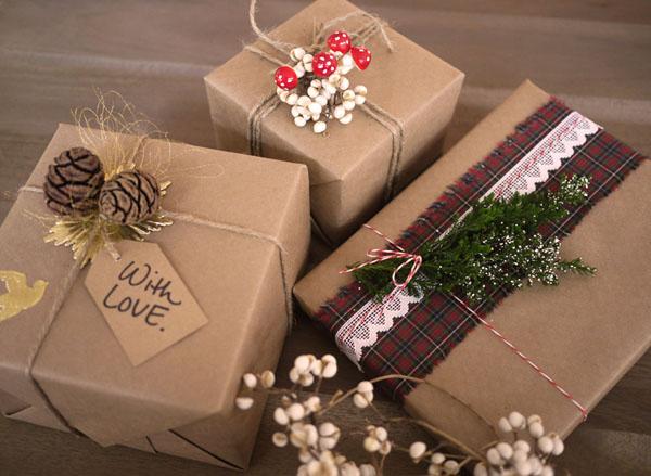 оформление новогодних подарков фото