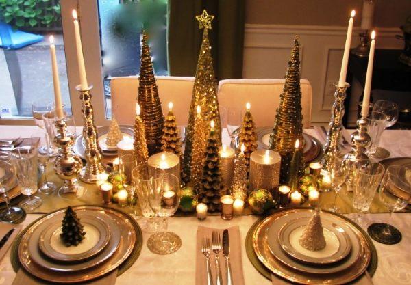 Фото украшений новогоднего стола