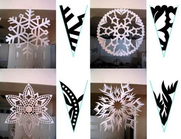 Красивые снежинки из бумаги фото 12