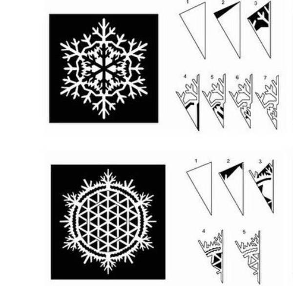 Красивые снежинки из бумаги фото 13