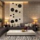 Необычное оформление стен в гостиной: оказывается, обои можно комбинировать