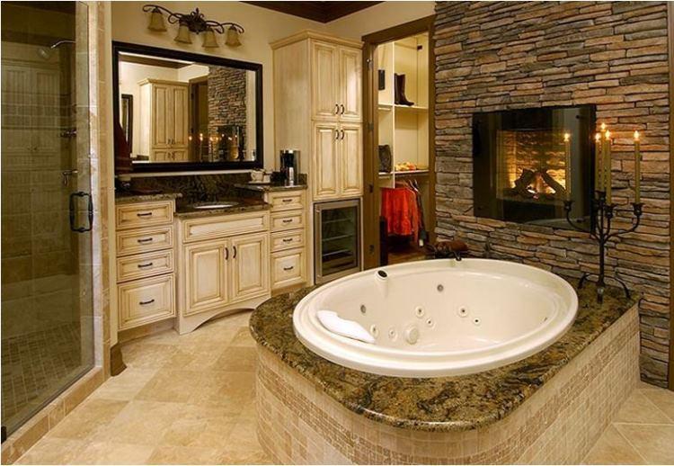 камин в ванной фото 10