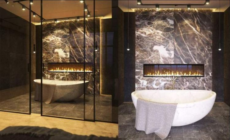 камин в ванной фото 7