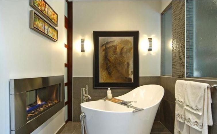 камин в ванной фото 9