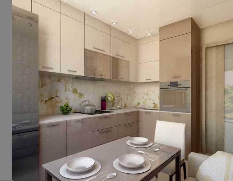 кухня 9 кв. м фото 3