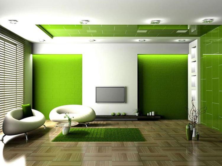 интерьер в зеленых тонах